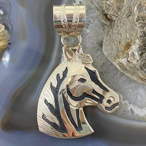 Alonzo Mariano Sterling Overlay  Horse  Pendant